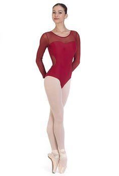 Body danza con intarsi in microrete