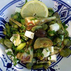 salade feves et artichaud