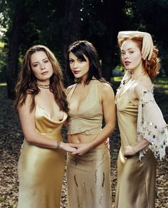 Holly Marie Combs as Piper Halliwell, Alyssa Milano as Phoebe Halliwell, Rose McGowan as Paige Halliwell-Matthews