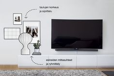 Home Deco, Flat Screen, Living Room, House Styles, Wall, Inspiration, Furniture, Lamps, Decoration