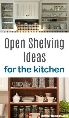 10 pretty open shelving ideas for the kitchen, DagmarBleasdale.com #open #shelving #shelf #shelfie #kitchen #ideas #livingroom #homedecor #kitchendesign #bathroom