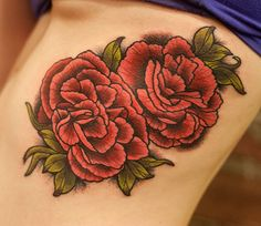 carnation tattoo - Cover up January Bday month flower Google Search