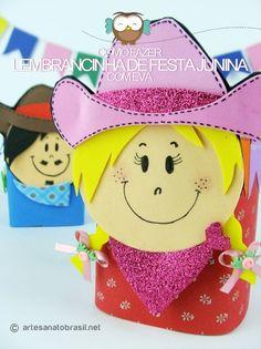 #festajunina Lembrancinha de festa junina em EVA