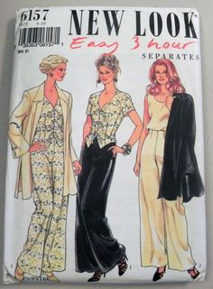 1990s Pant Suit sewing pattern Jacket tops by retroactivefuture, $8.00