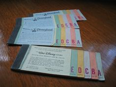 OMG, Old Disneyland Tickets. I remember.
