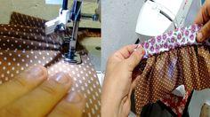 CALCADOR DE FRANZIR: Aprenda a regular a máquina - Franzir com dois tecidos