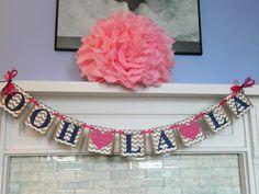 Chevron Stripes/ Ooh La LA Banner/ Bachelorette Party Decor/ Bridal Shower Decor/ Lingerie Party/ Photo Prop/ You Pick the Colors