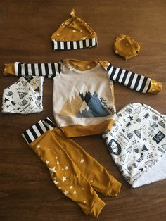 Patterns for Pirates Newborn set by nest fabrics and other fabrics Patterns For Pirates, Nest, Fabrics, Sewing, Baby, Nest Box, Tejidos, Dressmaking, Couture