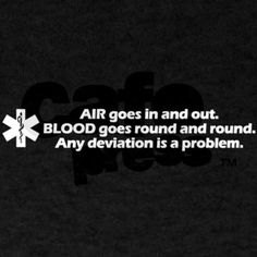 Air goes in and out. Blood goes round and round. Any deviation is a problem.