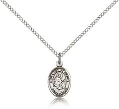 Sterling Silver Our Lady of Mercy Patron Saint Medal Pendant - Small, Our Lady of Mercy, Our Lady, Jewelry by Bliss, Jewelry & Medals, Categories at HolyFamilyOnline.com