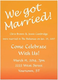 wedding party invitations after marriage the charming verse in