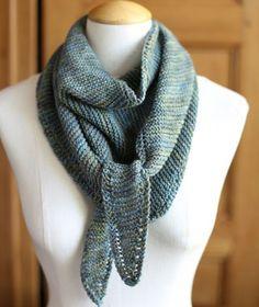Knit Sideways Triangle Scarf Free Pattern