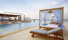 Eat, drink and play at the transformed Yas Beach Club in Abu Dhabi.