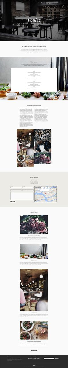 Beautiful minimalistic onepage WordPress theme for restaurants, photographers and other businesses. By Keymasters.de