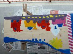 Table - kids' painting... Complete!  Gioele's side