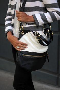 Black & White colorblock bag