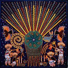 индейцы, Уичоли, Huichol, уичоль, Мексика, искусство, бисер, вышивка I hope the translation isn't cursing.