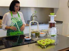 Odile Fernández, autora de 'Mis recetas anticáncer', durante la grabación del booktrailer de 'Mis recetas de cocina anticáncer'. Odile Fernandez, Recetas Anticancer, Cooking Recipes