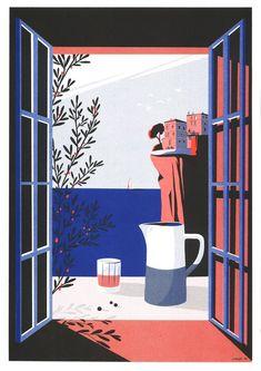 Paul Sirand - Détours de France : Bonifacio Bonifacio, Format A3, Poster, Painting, Illustrations, Portrait, Art, Style, Diagon Alley