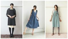 No matter what time of year it is, you can easily create your very own sewn wardrobe! Inside Simply Sewn by Michiyo Ito, you will find a lovely collection of wearable clothes for every season. Stylish Dress Book, Stylish Dresses, Japanese Sewing, Duster Coat, Sewing Patterns, Shirt Dress, Simple, Books, Handmade