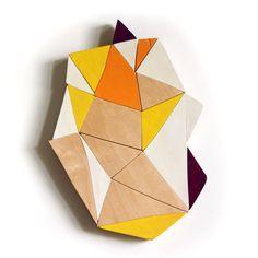 geometric wall mosaic