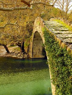 9) Old stone bridge....Old stone bridge above Voidomatis River in Epirus, Greece