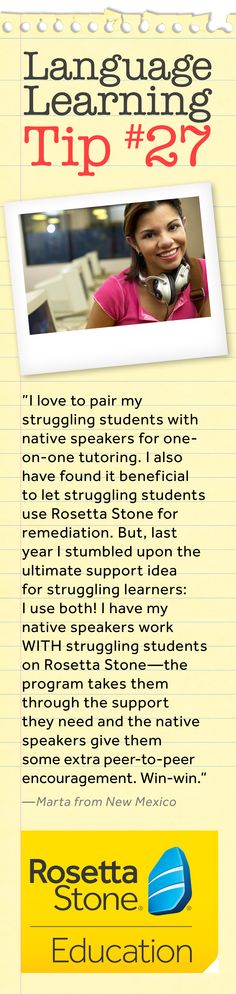 We love this tip for helping struggling students from a real Spanish teacher.  What a great idea!