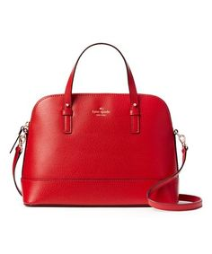 Look at this #zulilyfind! Pillbox Red Grand Street Rachelle Leather Satchel #zulilyfinds