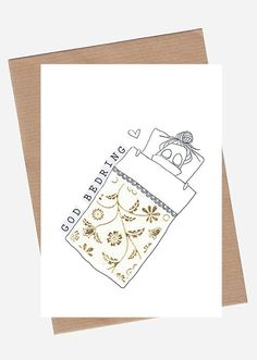 Folded Greeting Card in size × 148 mm / × in) Printed on Scandia 2000 White Paper. Includes a brown, recycled paper envelope A6 Size, By, Paper Envelopes, Greeting Cards, Prints, Image, Paper Bags