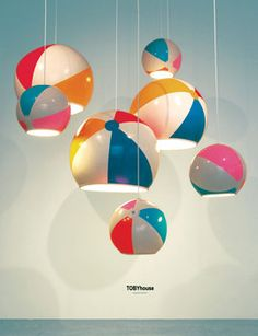 TOBYhouse  Beach Ball Lamp Shade