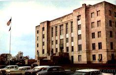1940 Brazoria County courthouse, Angleton, Texas, 1950 s postcard Angleton Texas, Freeport Texas, Brazoria County, Lake Jackson, George Strait, Galveston, Nostalgia, History, World