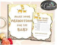 Our new product: PREDICTIONS FOR B.... Check it out here: http://snoopy-online.myshopify.com/products/predictions-for-baby-giraffe-baby-shower-sign-and-cards-activity-printable-theme-for-boy-or-girl-digital-files-instant-download-sa001