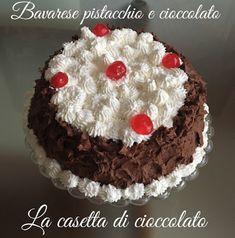la casetta di cioccolato: Torta bavarese al pistacchio e crema al cioccolato...