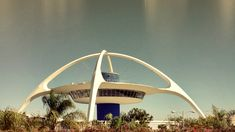Googie architecture: a subdivision of futurist modern architecture influenced by car culture, jets, the Space Age, and the Atomic Age.