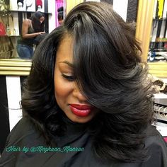 STYLIST FEATURE| This bob ✂️ styled #ATLStylist @meghann_monroe ❤️ So much body #voiceofhair ========================= Go to VoiceOfHair.com ========================= Find hairstyles and hair tips! =========================