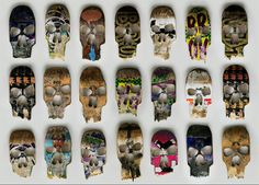 Beto Janz Beat-Up Skull Skateboards