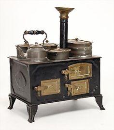 Casa de muñecas del horno holandés Estufa Cocina Muebles de cocina en miniatura