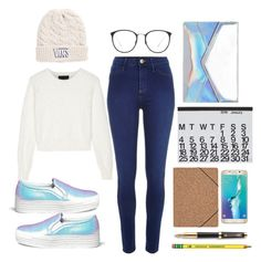 """""""Untitled #15"""" by lauralionels ❤ liked on Polyvore featuring Vans, River Island, Line, Joshua Sanders, Linda Farrow, Crate and Barrel, Nomess, Samsung and Parker"""