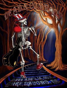 Dead & Company Greensboro Artist Edition Show Poster – Little Hippie Grateful Dead Skull, Grateful Dead Poster, Dead And Company, Psychedelic Rock, Concert Posters, Music Posters, Tour Posters, Punk, Skulls