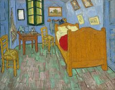 Vincent van Gogh, The Bedroom (1889) The second of three versions that Van Gogh painted. Art Institute of Chicago