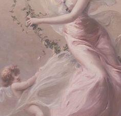 Aphrodite goddess of love and beauty. Renaissance Kunst, Renaissance Paintings, Angel Aesthetic, Pink Aesthetic, Nature Aesthetic, Aphrodite Aesthetic, Goddess Of Love, Beautiful Goddess, Aesthetic Painting