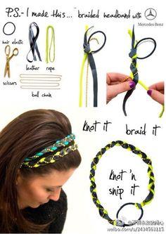 String Crafts,  Free String Craft, cute, kawaii,diy, hairband, accessory , hair, cool teen crafts