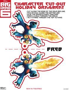 Fred Holiday Ornament Cut-out