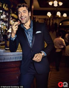 Leading man: Javier Bardem opened up about his marriage in a new interview with GQ magazine