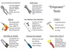 """""""Empower"""" tool cards against bullying from the book Confessions of a Former Bully as per the Inspired Counselor"""