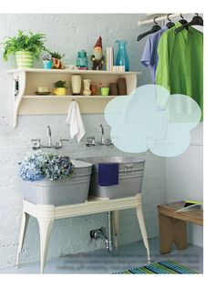 back deck sink idea. Kids can wash up before coming in!
