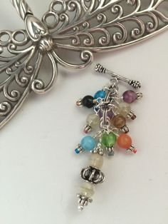 Multi Colored Glass Beaded Pendant Necklace #158