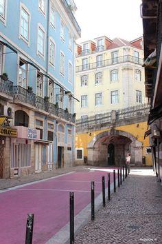 "Rua Nova do Carvalho ""The Pink Street"", Lisbon - Map of Joy Portugal, world, travel"