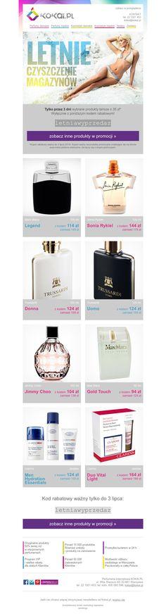 Szablon dla perfumerii kokai.pl. Warto zwrócić uwagę na duże zdjęcia produktów.