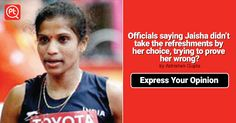 #Officials saying Jaisha didn't take the refreshments by her choice, trying to prove her wrong? #ExpressYourOpinion #Posticker
